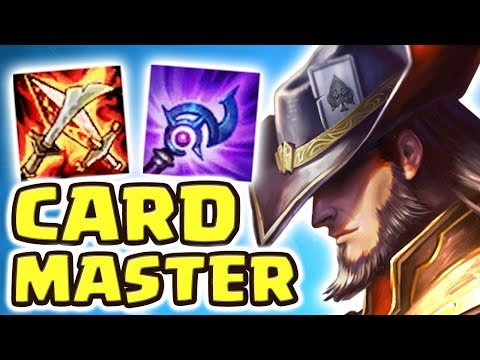 THE WORST CARDMASTER ON THE RIFT!! FULL AP TWISTED FATE MID | RED CARD BEST CARD - Nightblue3 (видео)