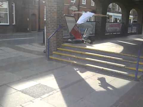 frontside half-cab sainsbury's 4 stair
