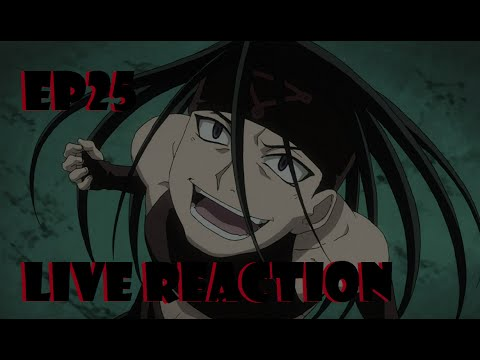 Fullmetal Alchemist: Brotherhood Live Reaction Episode 25 - Abomination