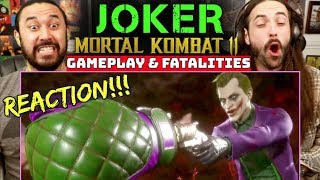 MORTAL KOMBAT 11 | JOKER Gameplay & Fatalities - REACTION!!! by The Reel Rejects