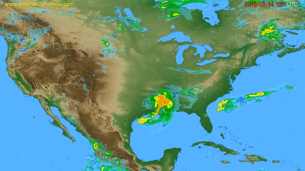 Radar forecast USA & Canada // modelrun: 00h UTC 2019-07-14