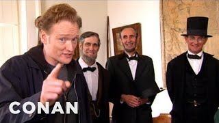 Video Conan Visits Abraham Lincoln Presidential Museum - CONAN on TBS MP3, 3GP, MP4, WEBM, AVI, FLV Desember 2018