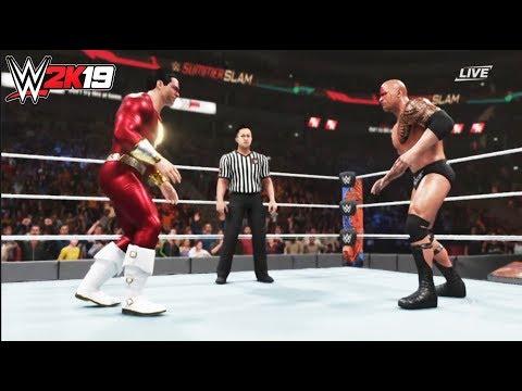 WWE-2K19-Shazam vs. The Rock((Black Adam)-Summerslam-NO Hold Barred Match