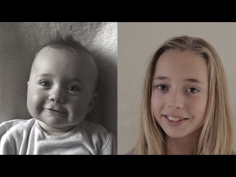 time lapse - http://www.franshofmeester.nl http://www.franshofmeester.nl/fhwork/film_werk1.html Amazing Time-Lapse Video Shows Girl Changes From Baby to Pre-Teen. Lotte e...