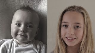 Birth to 12 years in 2 min. 45 sec. Time Lapse Lotte. (The Original)       - YouTube