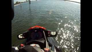 8. First Time Sea Doo RXTX 260 2011 on water iBrake testing, and wave jumping