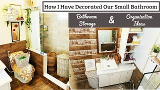 Small Bathroom Decorating / Organization Ideas | Small Space Storage Solutions