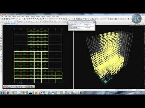 Cálculo Estructural - Video del Curso Libre Cálculo de Edificios de Concreto Armado con Sap2000, se modela un edificio de concreto armado de 15 pisos. Este video forma parte del t...