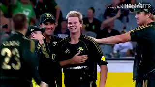Steven smith odi debut vs west indies 2010 first wicket and catch