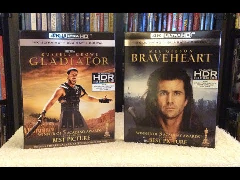 Gladiator / Braveheart 4K BLU RAY REVIEWS + Unboxing