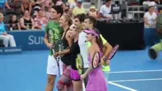 Roger Federer & Grigor Dimitrov - Brisbane Kids Day 2015 Tennis Atp Tournament Bethanie Mattek-Sands, Milos Raonic, Victoria...