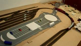 Visió completa del circuit inclós l'aparcament amagat, que no es veurá quan es construexi la montanya. Visión completa del circuito incluido el aparcamiento oculto, que no se verá cuando se construya la motaña.