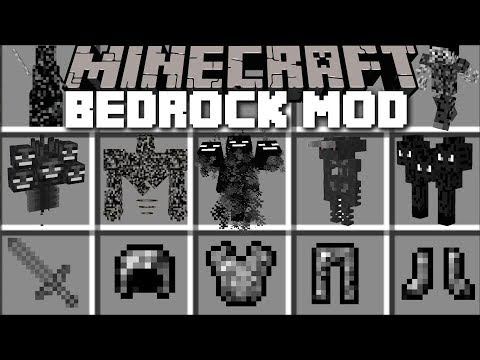 Minecraft BEDROCK MOD / TRAVEL TO BEDROCK DIMENSION AND SURVIVE THE CREATURES!! Minecraft (видео)