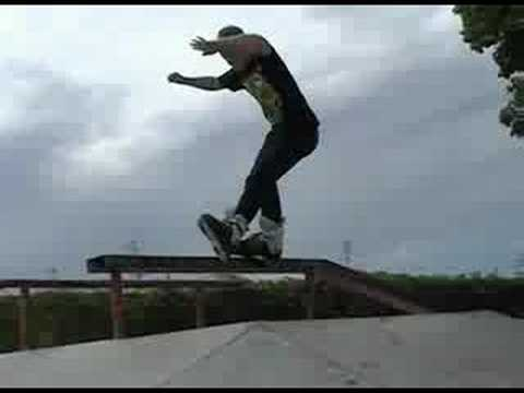 Jordan Sankey skating at cedar falls skatepark