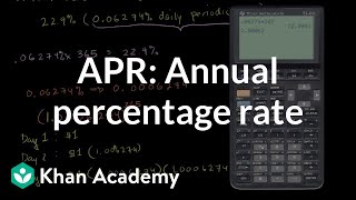 Annual percentage rates (APR) and effective APR