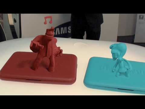 claymation - Those trade show guys always too crazy trying to outdo each other with cool stuff, but this is just nuts.