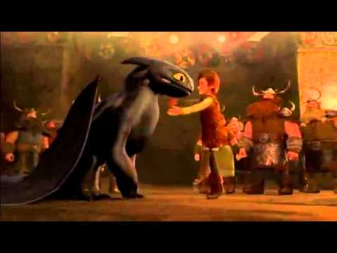 hiccup & toothless reunion gift of the night fury