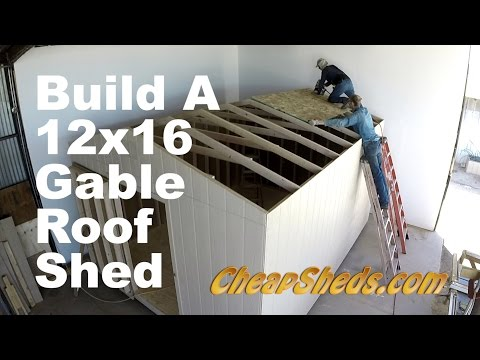 How To Build A 12x20 Gable Roof Shed In 10 Minutes