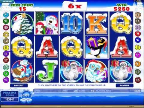Santa Paws Slots 20640 Retriggered Free Spin Win