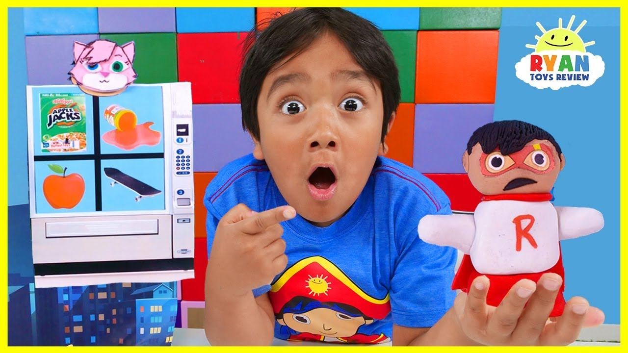 Ryan Claymation Vending Machine Pretend Play Story!!! - YouTube