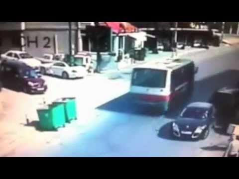 Lebanese man hit by car and stays on roof of car
