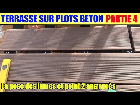 Search result youtube video pose terrasse en bois for Terrasse sur plots beton