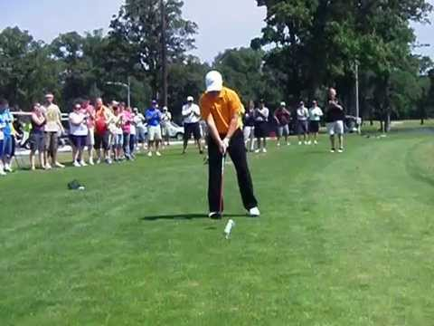 Watch video Emmanuel Bishop — 5th Annual Driving for the Upside of Downs Ceremonial Golf Drives.
