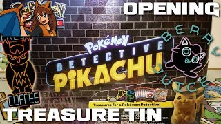 SO MANY HOLOS - Opening a Detective Pikachu Collector's Chest Tin of Pokemon Cards! by Flammable Lizard