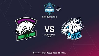 Virtus.pro vs  EVOS, ESL  One Hamburg, bo2, game 1 [Lex & 4ce]