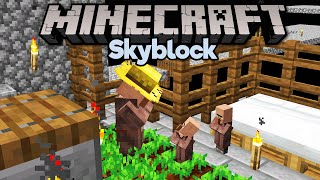 Easy Skyblock Villager Breeding! • Minecraft 1.15 Skyblock (Tutorial Let's Play) [Part 9]