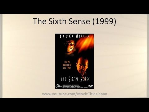 The Sixth Sense - Movie Title In Japanese
