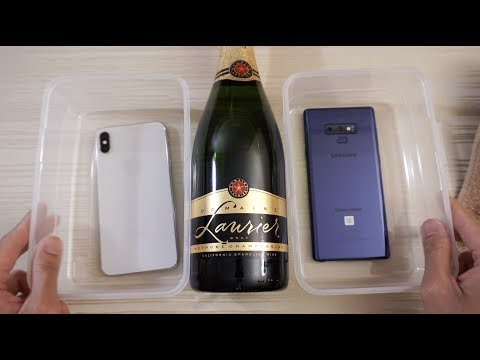 Video iPhone XS Max vs Note 9 - Champagne Test! download in MP3, 3GP, MP4, WEBM, AVI, FLV January 2017