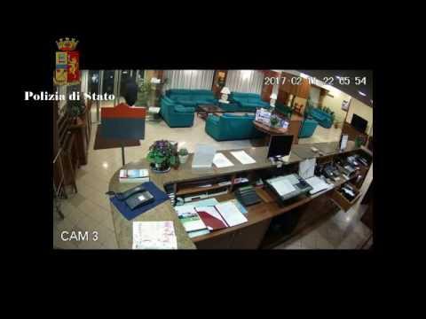 Rapina in hotel, il filmato