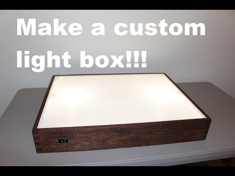 How to build a light box!
