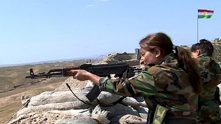 North of Iraq, on the frontline with the female soldiers. In their sights the jihadist fighters from the so-called Islamic State. The troop of women Kurdish ...