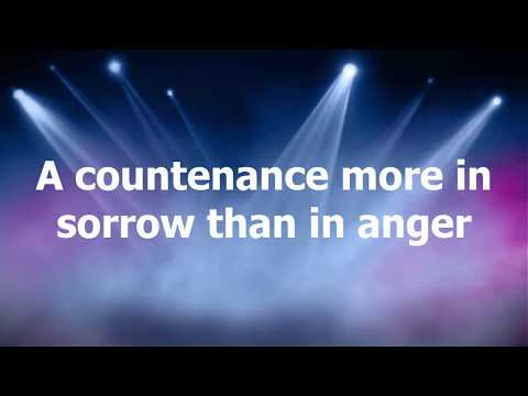 A countenance more in sorrow than in anger... Meaning and Explanation!