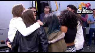 Little Mix, Haim & Jessie Ware together backstage at Radio 1's Big Weekend
