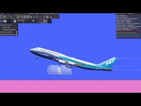 Algodoo - Boeing 747 800