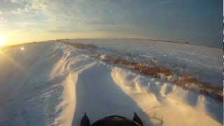 1. Snowmobile Gopro ditch riding a T660 Turbo Watch in 720 for best quality !