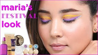 makeup tutorial: festival look with maria