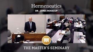 Hermeneutics Lecture 01