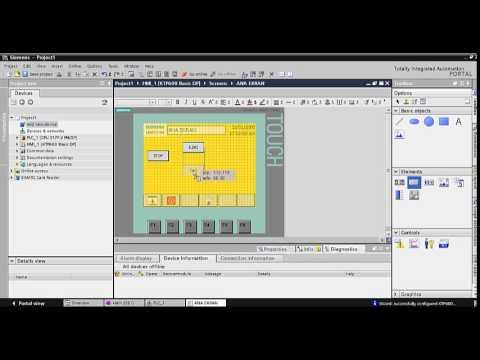 Siemens TIA PORTAL V11 HMI Panel Simülasyon Uygulaması
