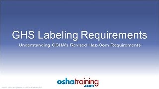 Download Video Free OSHA Training Tutorial - Understanding the GHS Labeling System MP3 3GP MP4