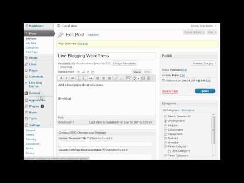 How to Live Blog in WordPress