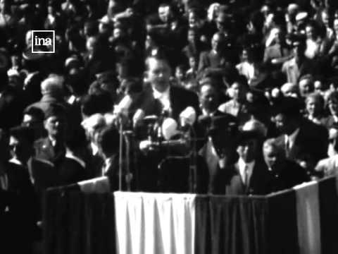 1954 : extrait du discours du Pdt. René Coty pour le 10eme anniversaire du débarquement