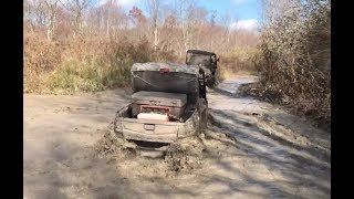 4. Mudding in West Virginia Honda Pioneer 1000 following John Deere Gator RSX850i