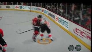 NHL 11 - Quick Clip with Rammer on Real-Time Physics