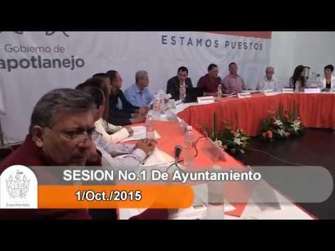 Sesión Ordinaria No. 1 de Ayuntamiento 1 de octubre de 2015