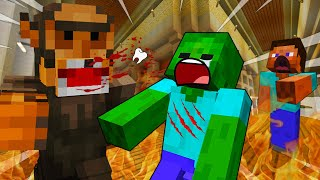 BULLY FIGHT In SCHOOL- MINECRAFT STEVE AND BABY ZOMBIE [69]