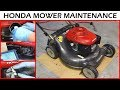 Honda Lawnmower Maintenance How-To - Oil Change & Sharpen Blade
